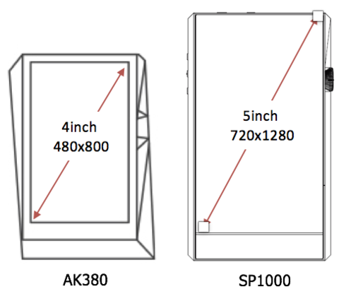A&ultima SP1000 Screen Size